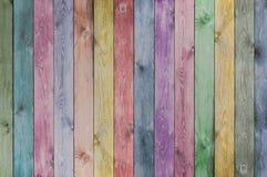 五颜六色的木板条纹理或背景 库存照片