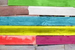五颜六色的木板条 库存照片