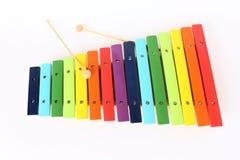 五颜六色的木琴 免版税库存照片