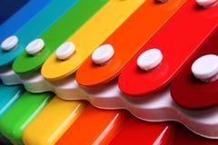 五颜六色的木琴 免版税库存图片