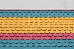 五颜六色的木瓦样式 图库摄影