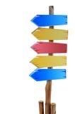 五颜六色的木符号董事会 免版税图库摄影