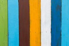 五颜六色的木纹理或背景 图库摄影