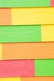 五颜六色的木纹理 免版税图库摄影