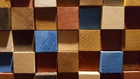 五颜六色的木纹理 库存照片