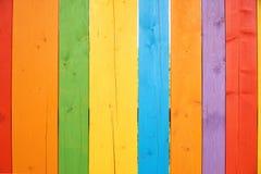 五颜六色的木背景或墙纸 免版税库存图片
