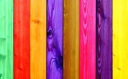 五颜六色的木头 免版税库存图片