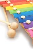 五颜六色的木琴 库存图片