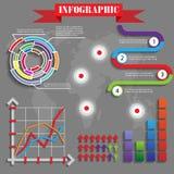 五颜六色的未来派infographics传染媒介 免版税库存照片