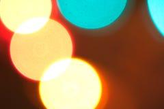 五颜六色的未聚焦的光 图库摄影