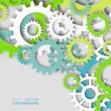 五颜六色的机制系统钝齿轮 免版税库存图片