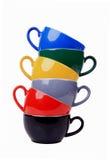 五颜六色的杯子 库存图片