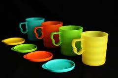 五颜六色的杯子 免版税库存图片