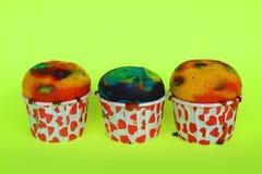 五颜六色的杯形蛋糕 库存照片