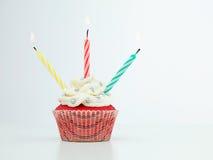 五颜六色的松饼蜡烛 免版税库存照片