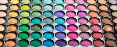 五颜六色的构成眼影膏调色板 库存照片
