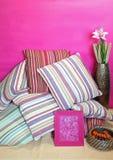 五颜六色的枕头 库存图片