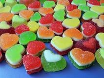 五颜六色的果冻甜点,可能使用作为背景 免版税库存照片