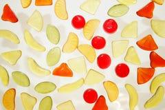 五颜六色的果冻甜点 库存图片