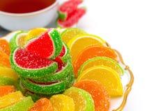 五颜六色的果冻糖果 免版税库存图片