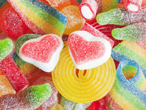 五颜六色的果冻糖果 库存图片