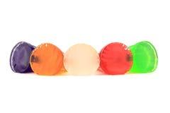 五颜六色的果冻 库存图片