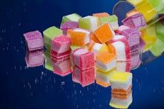 五颜六色的果冻 免版税库存图片