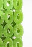 五颜六色的果子圈子糖胶粘的糖果 图库摄影