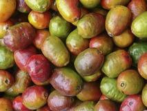 五颜六色的果子在奇奇卡斯特南戈市场上 免版税库存照片