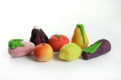 五颜六色的果子小杏仁饼种类 免版税库存图片