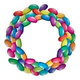 五颜六色的果子明胶软心豆粒糖 库存图片