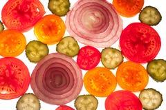 五颜六色的果子的混合在白色的 免版税图库摄影