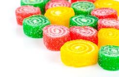 五颜六色的果子糖果特写镜头  库存图片