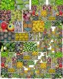 五颜六色的果子配件箱 免版税库存图片