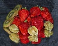 五颜六色的果子 免版税库存照片