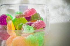 五颜六色的果冻糖果彩虹 免版税库存照片