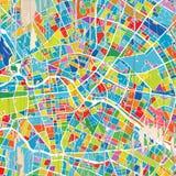 五颜六色的柏林地图 库存例证