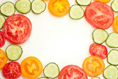 五颜六色的柑桔的混合在白色的 免版税图库摄影