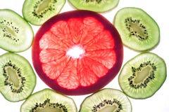 五颜六色的柑桔的混合在白色的 库存照片
