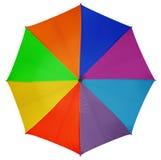 五颜六色的查出的伞 库存照片