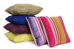 五颜六色的查出的枕头 库存图片