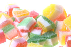 五颜六色的查出的果冻甜点 图库摄影