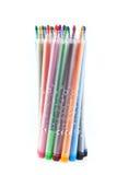 五颜六色的查出的记号笔 免版税图库摄影
