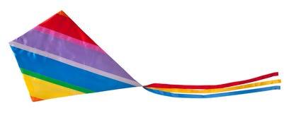 五颜六色的查出的风筝 免版税库存照片