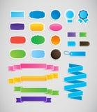 五颜六色的标签和丝带,标记 库存照片