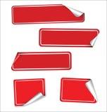 五颜六色的标签的汇集与圆角落的 免版税库存照片