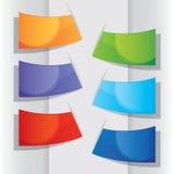 五颜六色的标签,传染媒介例证 免版税库存照片