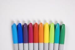 五颜六色的标记 免版税库存图片