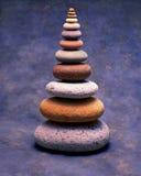 五颜六色的栈石头 库存照片