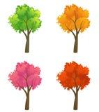 五颜六色的树收藏 免版税库存照片
